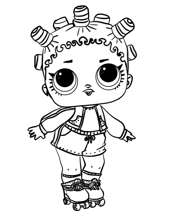 раскраски куклы Lol кукла лол 1 серия на роликах