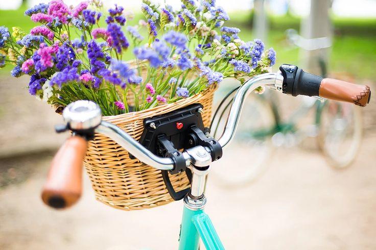 Bicicleta Urbana Summer, estilo retrô / vintage, marca Art Trike, verde agua, feminina, cesto vime, decoração