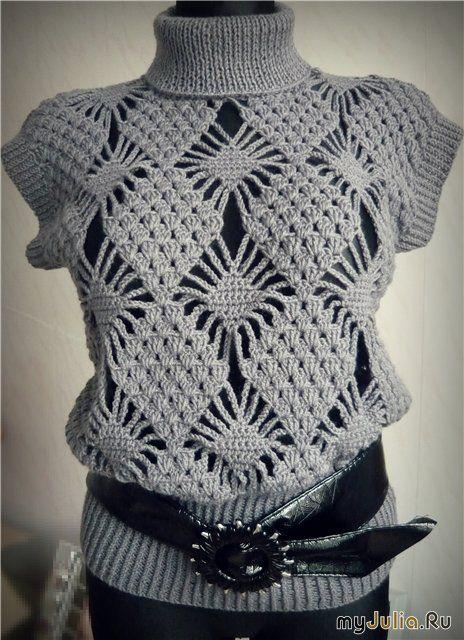 Modello maglia grigia
