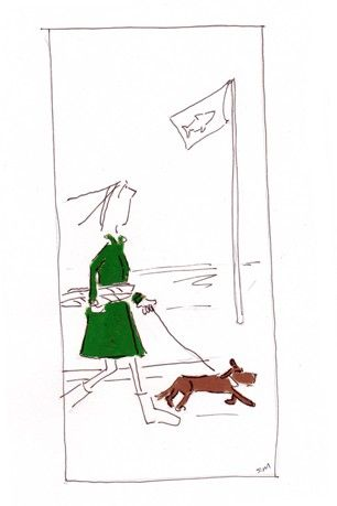 Walking the dog by Sandy Mitchell
