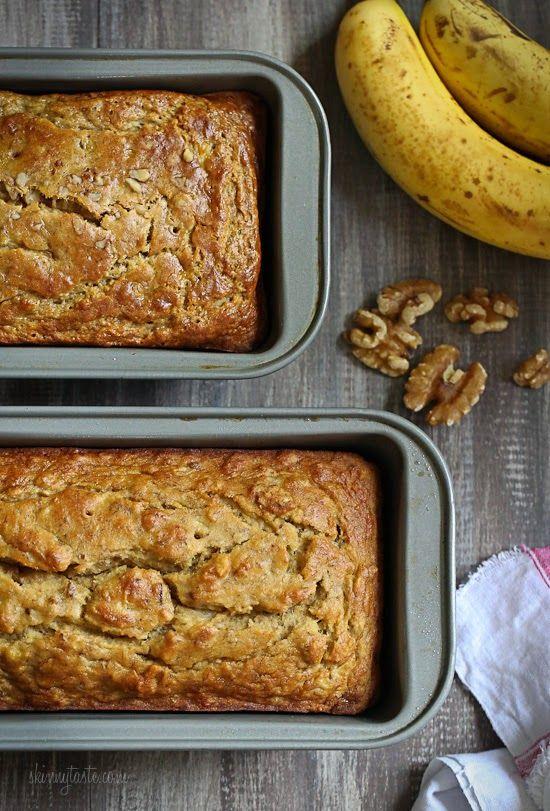 Gluten-Free Lightened Up Banana Nut Bread | Skinnytaste