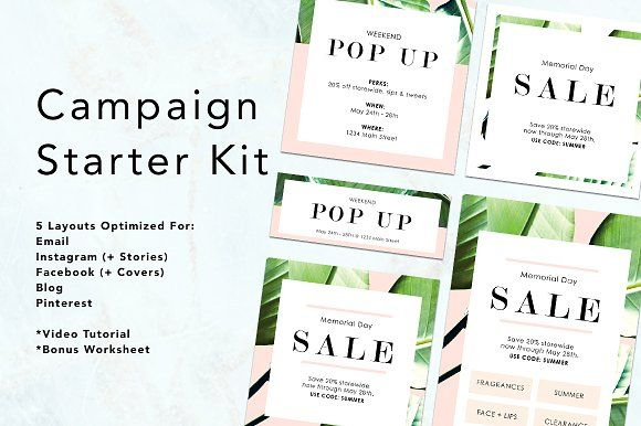 Palm Beach Campaign Starter Kit Facebook Cover Template Email Templates Pinterest Templates