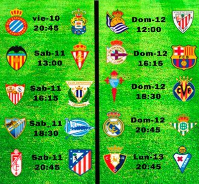 La Liga Full: Horario Jornada 27
