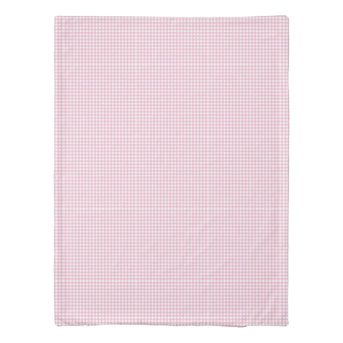 Pretty Pink Gingham Check Pattern Duvet Cover Zazzle Com Duvet Cover Pattern Pink Gingham Gingham Check
