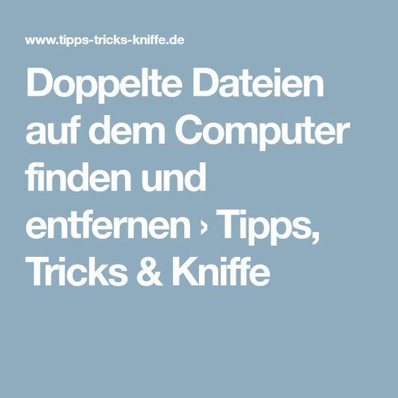 Doppelte Dateien auf dem Computer finden und entfe…