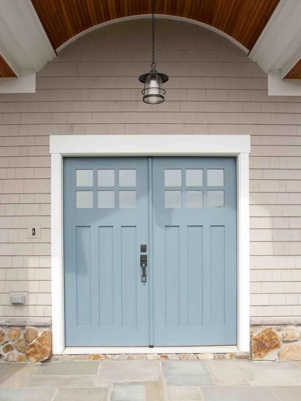Popular colors to paint an entry door : Home Improvement : DIY Network I like the idea of double front door