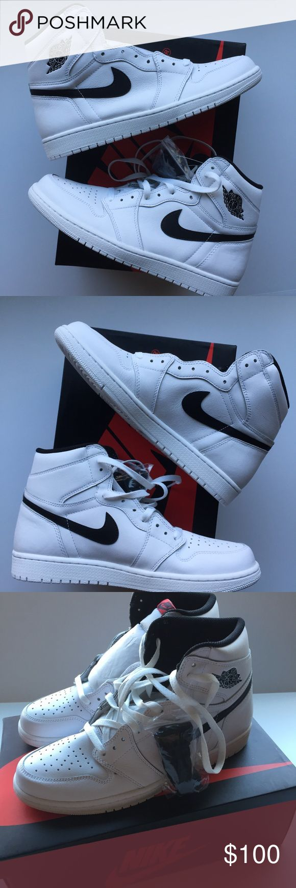"NEW Nike Air Jordan 1 Retro High OG ""Yin Yang"" NEW Nike Air Jordan 1 Retro High OG ""Yin Yang"" White Black 555088-102 Mens 10.5.  New with box - 100% authentic, please see original purchase receipt.  Very minor in-store try-on dust wear on left sole - see photo. Nike Shoes Sneakers"