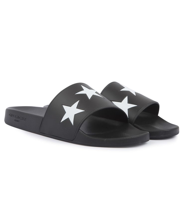 GIVENCHY SLIDE FLAT SANDAL WITH PRINTED STARS