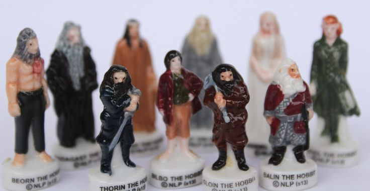 Hobbit/Le Seigneur des anneaux- 10 fèves des gâteaux de Rois- Peint à la main- Version brillante/laqué- Miniatures collection- Fabophilie de la boutique SouvenirFrancais sur Etsy