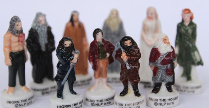 Hobbit/Le Seigneur des anneaux- 10 fèves des gâteaux de Rois- Peint à la main- Version brillante/laqué- Miniatures collection- Fabophilie de la boutique SouvenirFrancais sur Etsy