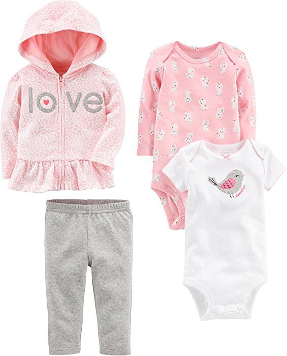 Simple Joys by Carters Baby 4-Piece Jacket Bodysuit and Pant Set