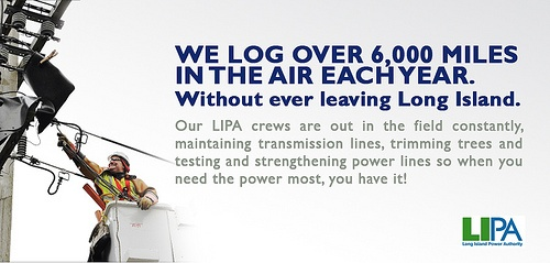 We Log Over 6,000 Miles in the Air Each Year. Without Ever Leaving Long Island.  Visit LIPA online at www.lipower.org/facebook