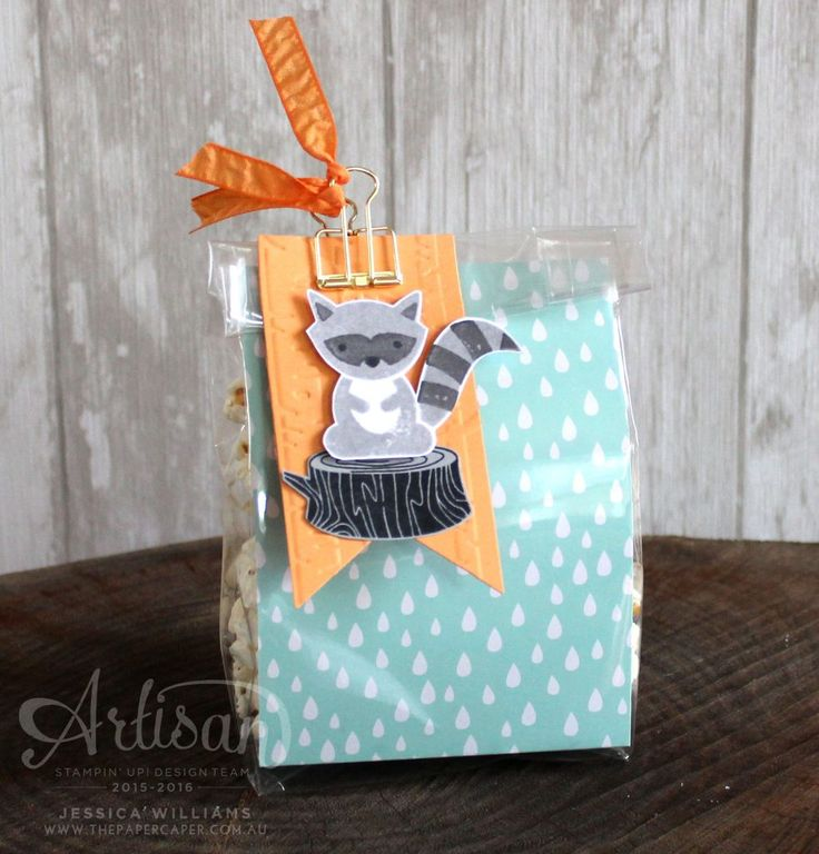 Loot bags are made easy with a Gusseted Cellophane Bag and Designer Series Paper ~ Jessica Williams