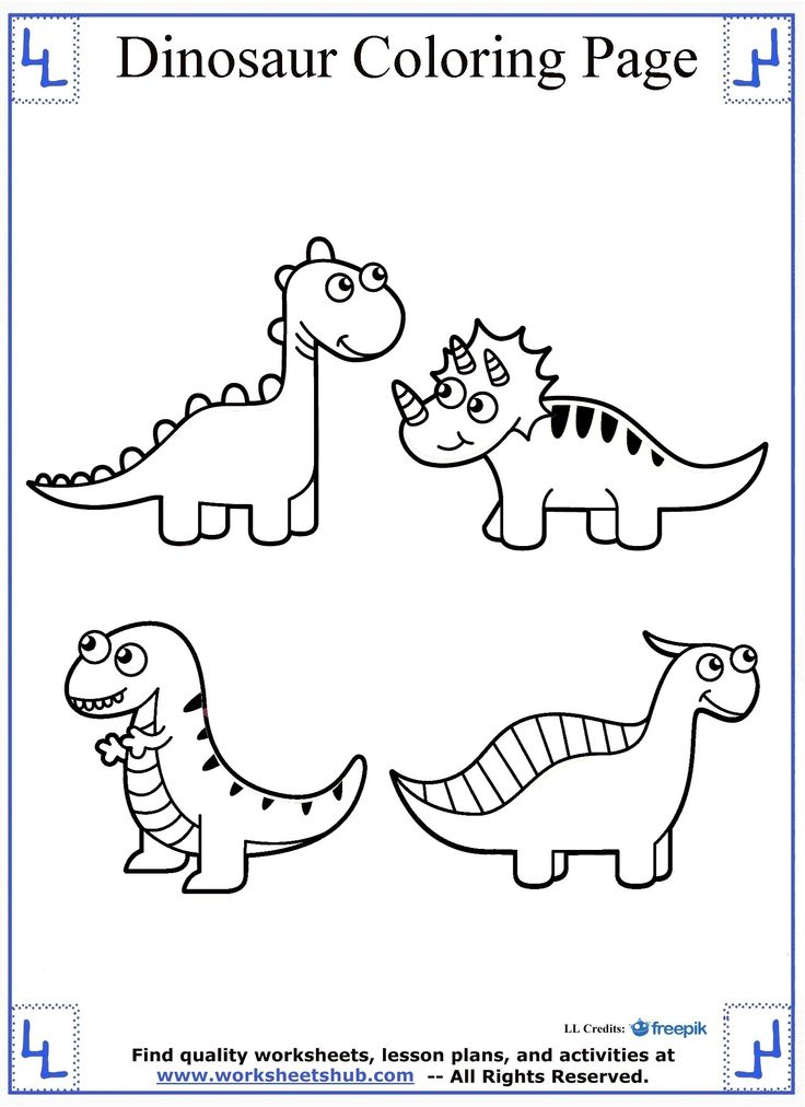Dinosaur Coloring Page Cute