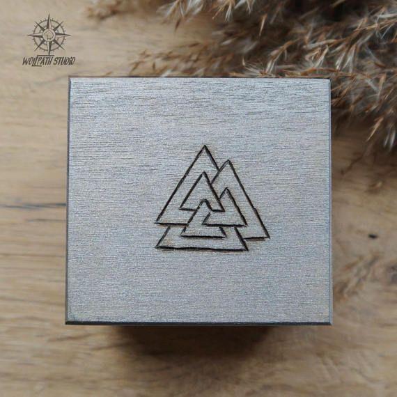 Viking rune box Valknut rune chest Odin symbol wooden box