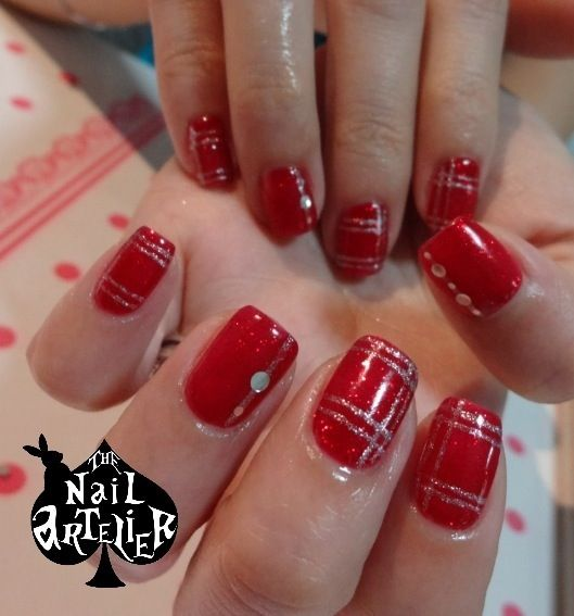 Elegant Christmas Nail Art: 17 Best Images About Red And Gold Nail Designs On