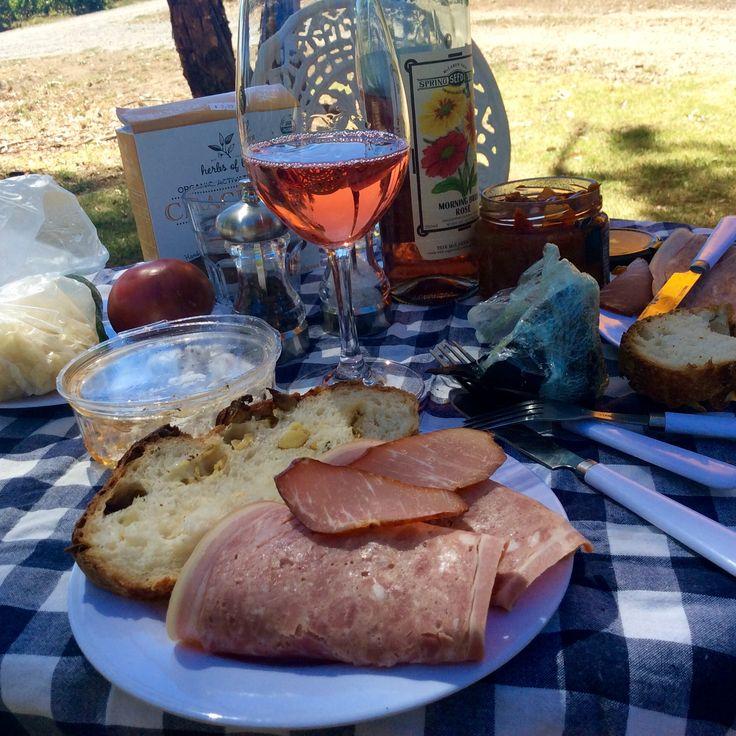 Picnic Battle of Bosworth vineyard