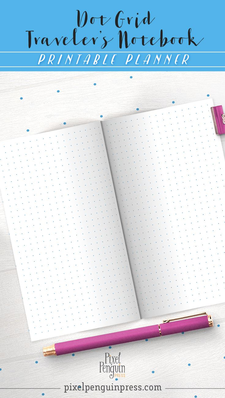 So grey dot grids are getting boring and you're ready for a new dot grid printable for your travelers notebook. These printable dot grids come in 4 funtastic flavours and make great traveler's notebooks (the personal size variety). But on top of that, they also are dead easy to cut into separate sheets for Filofax and Kikki binder planners.