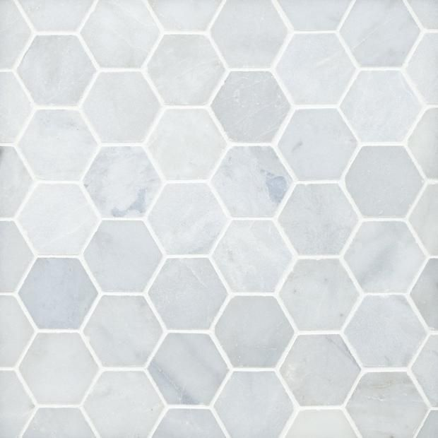 Blue Forest Hexagon Polished Marble Mosaic In 2020 Marble Mosaic Blue Forest Walk In Shower Designs