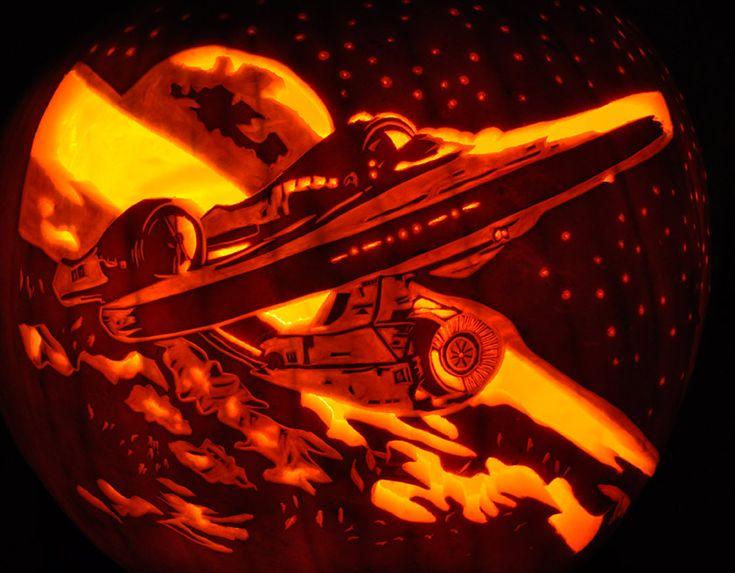 star trek jack o lantern - Star Wars Halloween Pumpkin Carving Patterns