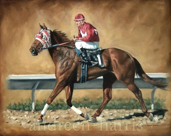 Stampa di un cavallo da corsa adatta