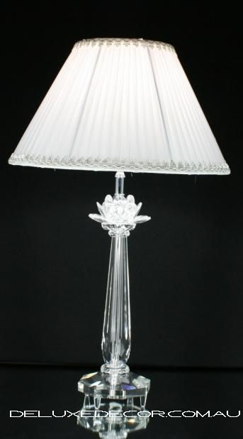 Modern Stylish Crystal Glass Table Bedside Lamp 9308 TW http://deluxedecor.com.au/products-page/table-lamps/modern-stylish-crystal-glass-table-bedside-lamp-9308-tw/