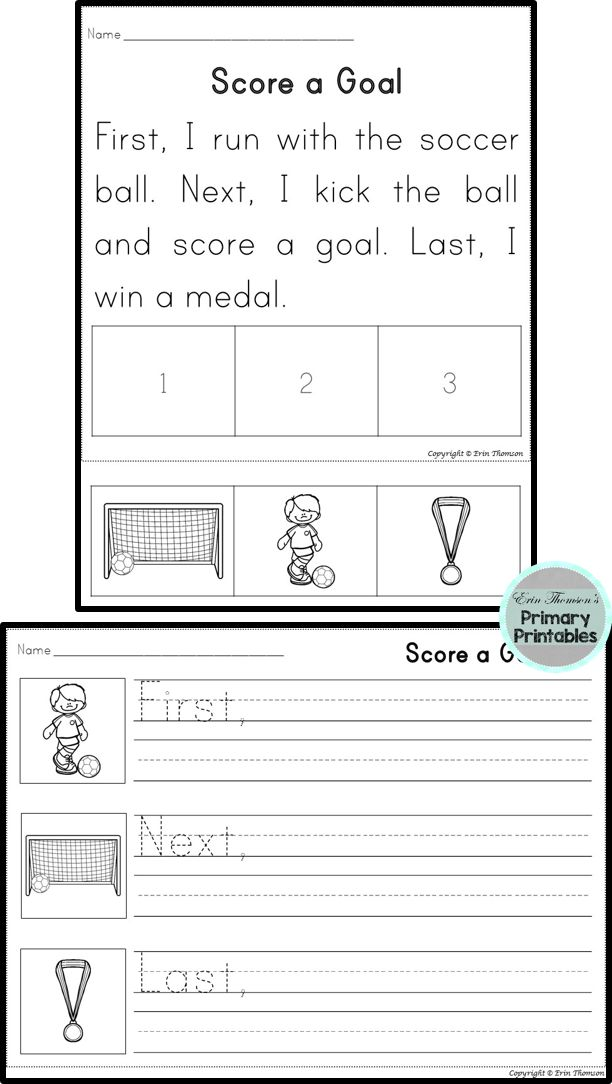 Sequencing Stories ~ Team Sports | Sequencing worksheets ...