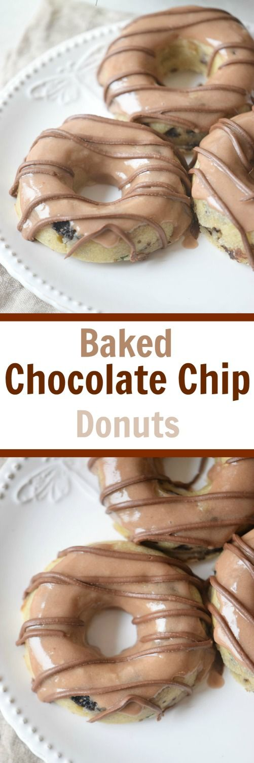 This recipe for simple and delicious Baked Chocolate Chip Donuts will convert you from the fried version. So easy and tasty everyone will love them.