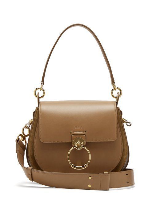 7a8d028abbee Chloé Tess medium leather and suede cross-body bag | new in 2019 ...