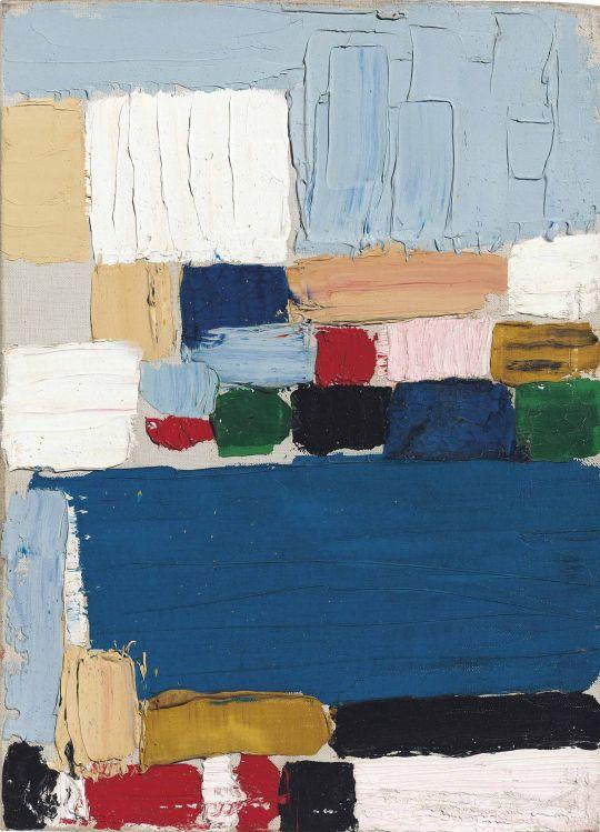 Nicolas de Staël (French, 1914-1955), Composition-Paysage (Le Castelet) , 1953. Oil on canvas, 33.2 x 24 cm.