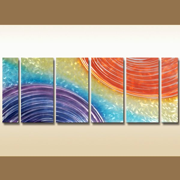 6 panels abstract multi canvas framed art