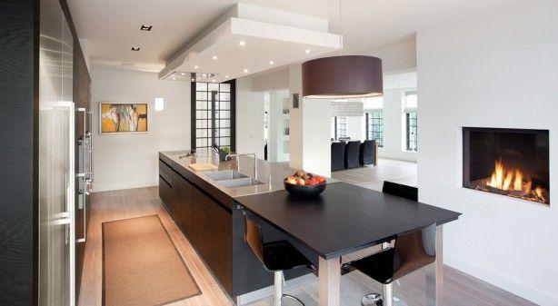 17 best images about eiland keukens on pinterest ramen tes and modern kitchens - Keuken back bar ...