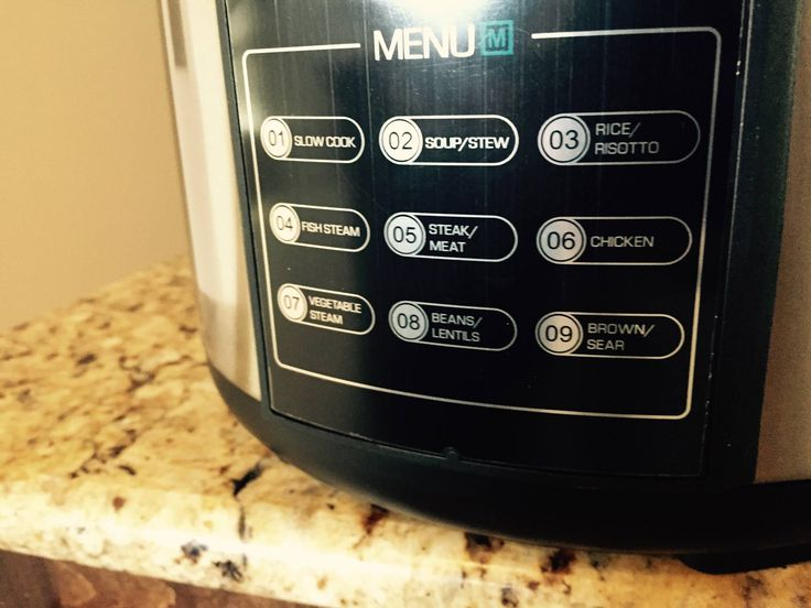 Farberware 7 in 1 programable pressure cooker button menu