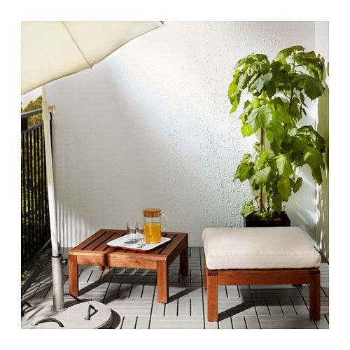 """Cushions are sold separately.  Use VÅRDA wood stain, for outdoor-use when re-staining the furniture.  Article Number: 802.134.46  Can be used as a table or stool to extend the one-seat section in the same series.  Size  24 3/4x24 3/4 """""""