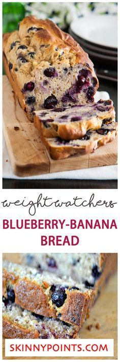 Blueberry-Banana Bread - Weight Watchers SmartPoints 5