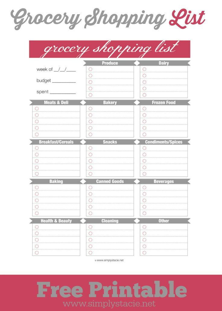 The 25+ best Free groceries ideas on Pinterest Budget grocery - free printable grocery list template