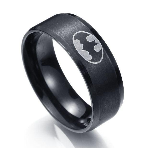 MMS New Arrival 316l Stainless Steel Batman Rings Titanium Steel Rings For Women and Men