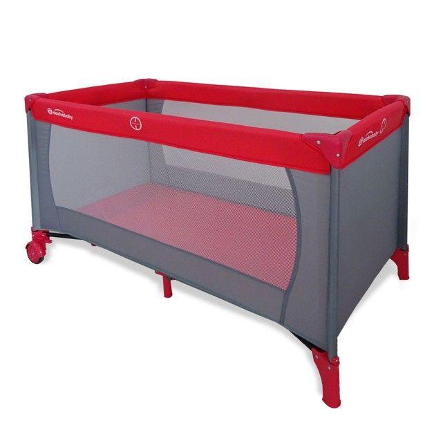 Lit parapluie Baby Fox Mallorca Gris-Rouge BABY FOX
