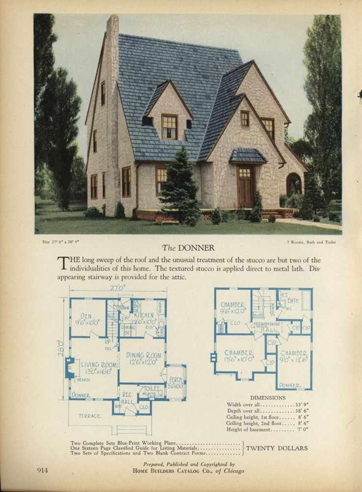 The DONNER Home Builders Catalog plans