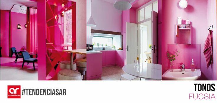 El color Fucsia se caracteriza por dotar de romanticismo a un espacio. Es elegido por hombres y mujeres ya que es un colore que despierta calidez, paz y armonía. Dan al hogar un toque de distinción, frescura y luminosidad #TendenciasAR