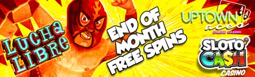Uptown Aces Online Casino – 30 Free Spins on Lucha Libre Slot Game