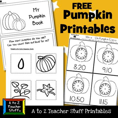 Pumpkins Printables and Worksheets | A to Z Teacher Stuff Printable Pages and Worksheets