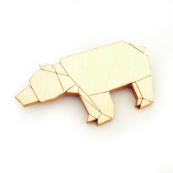 Spilla orso origami