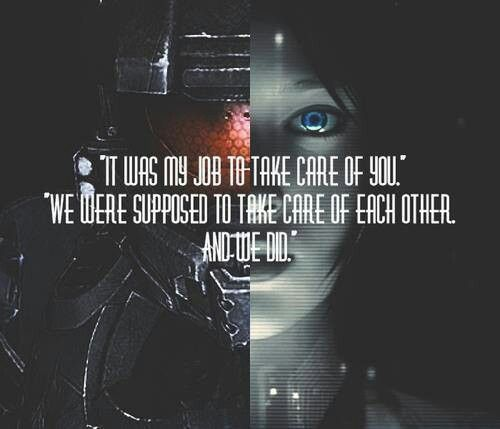 "Cortana/Halo 4 quote with ""humanized"" Cortana art IT""S NOT A LOVE STORY!!!"