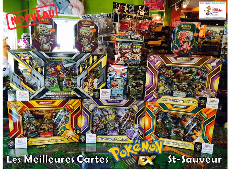 Les Meilleures Carte Pokémon à Saint-Sauveur, AUX MEILLEURS PRIX!  Nous avons les toutes dernières nouveautés CARTE EX EXCLUSIVE! @Boitesurprises #Pokemon #stsauveur #Jeu #jouet www.laboiteasurprises.ca