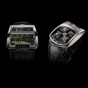 "A double coup for URWERK at the Grand Prix d'Horlogerie, Asia. The UR-CC1 wins the prize for ""Best Design Watch"" and the UR-103T wins the prize for ""Best Sport Watch"". 2009"