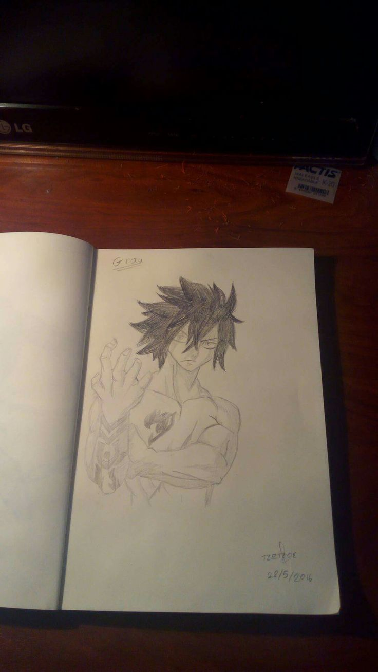 Gray from fairytail drawing