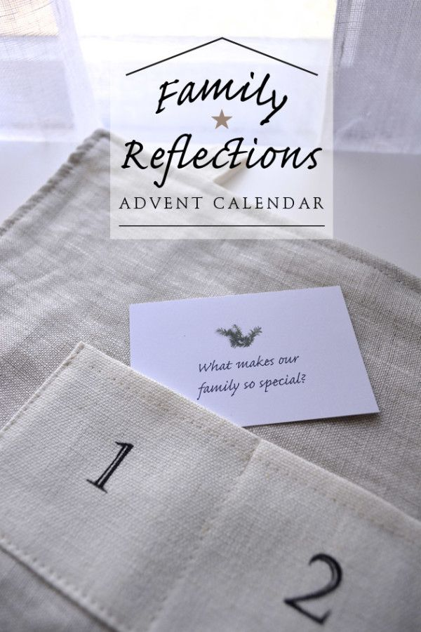 I'm in love with this idea! What a simple way to connect with each other! Family Reflections Advent  |   Playful Learning