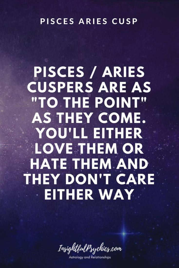 Pisces aries cusp woman compatibility