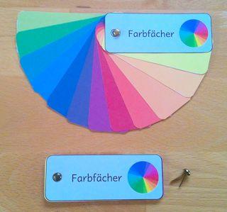 materialwiese: Farbfächer zum Selbermachen